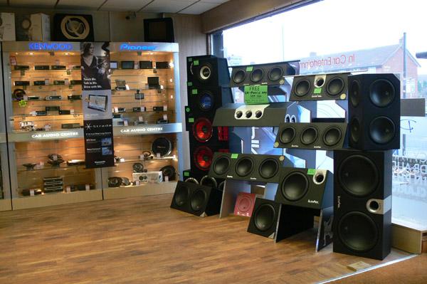 Hook up car speakers in house